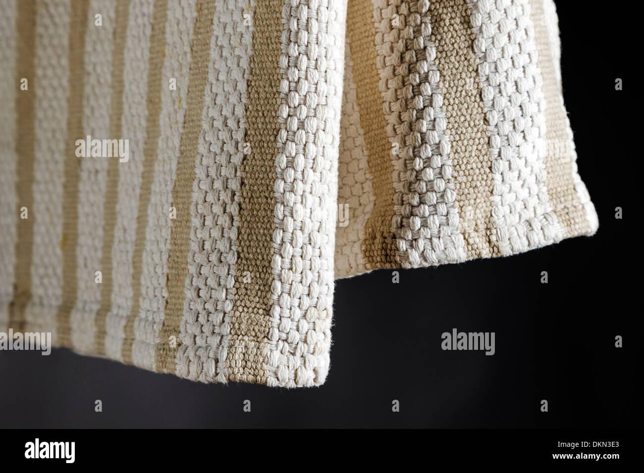 Studio photograph of kitchen dish towel - Stock Image