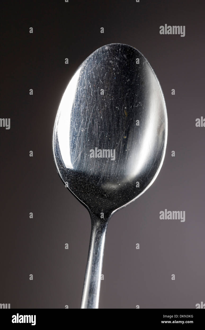 Studio photograph of flatware spoon - Stock Image