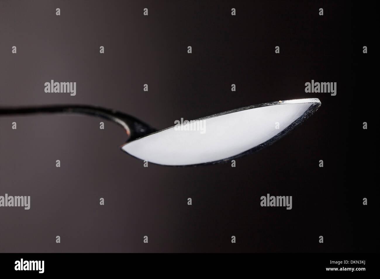 Studio photograph of flatware spoon - Stock Image