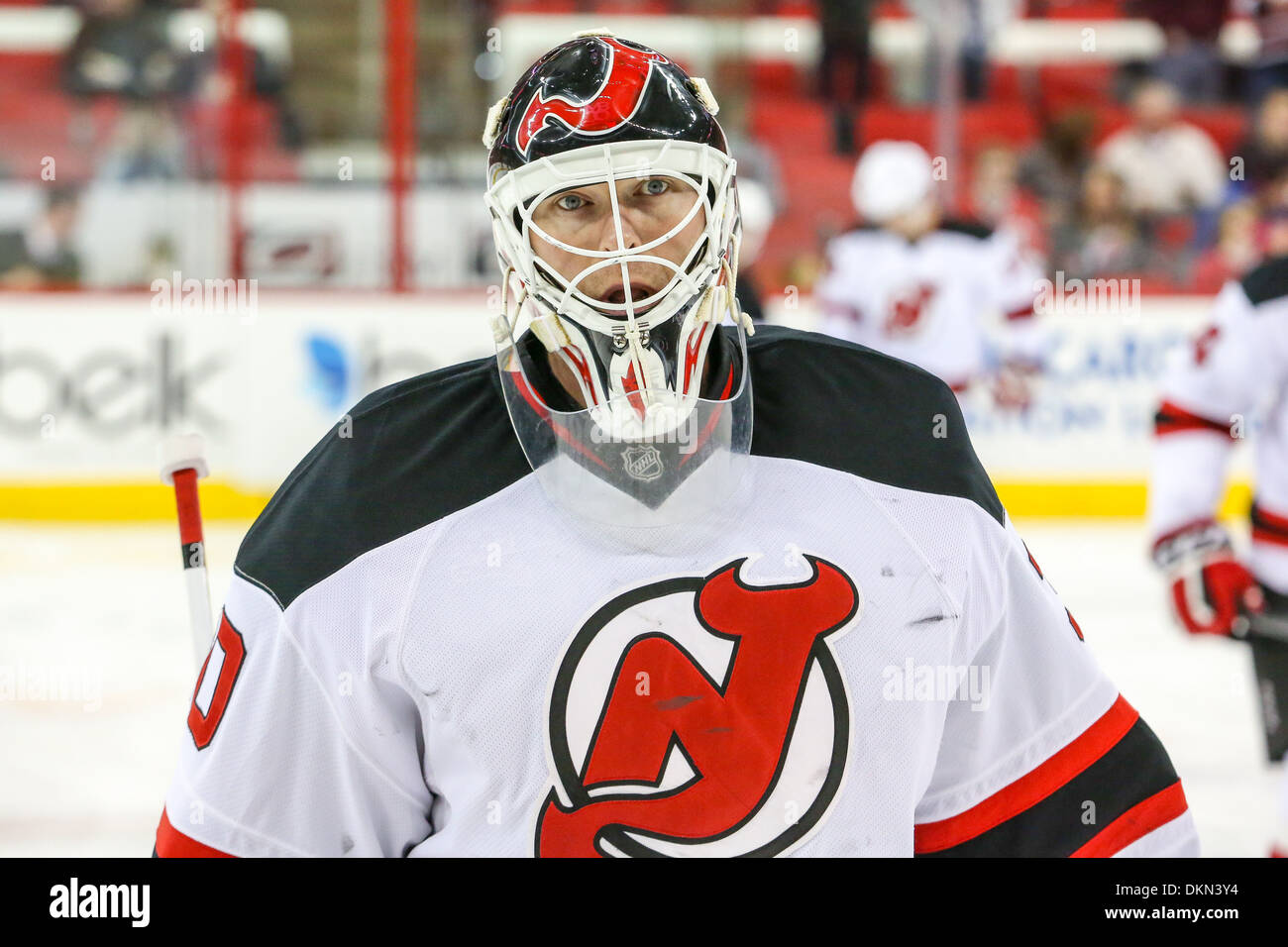 pretty nice a9cb7 ea159 New Jersey Devils goalie Martin Brodeur (30) during the NHL ...