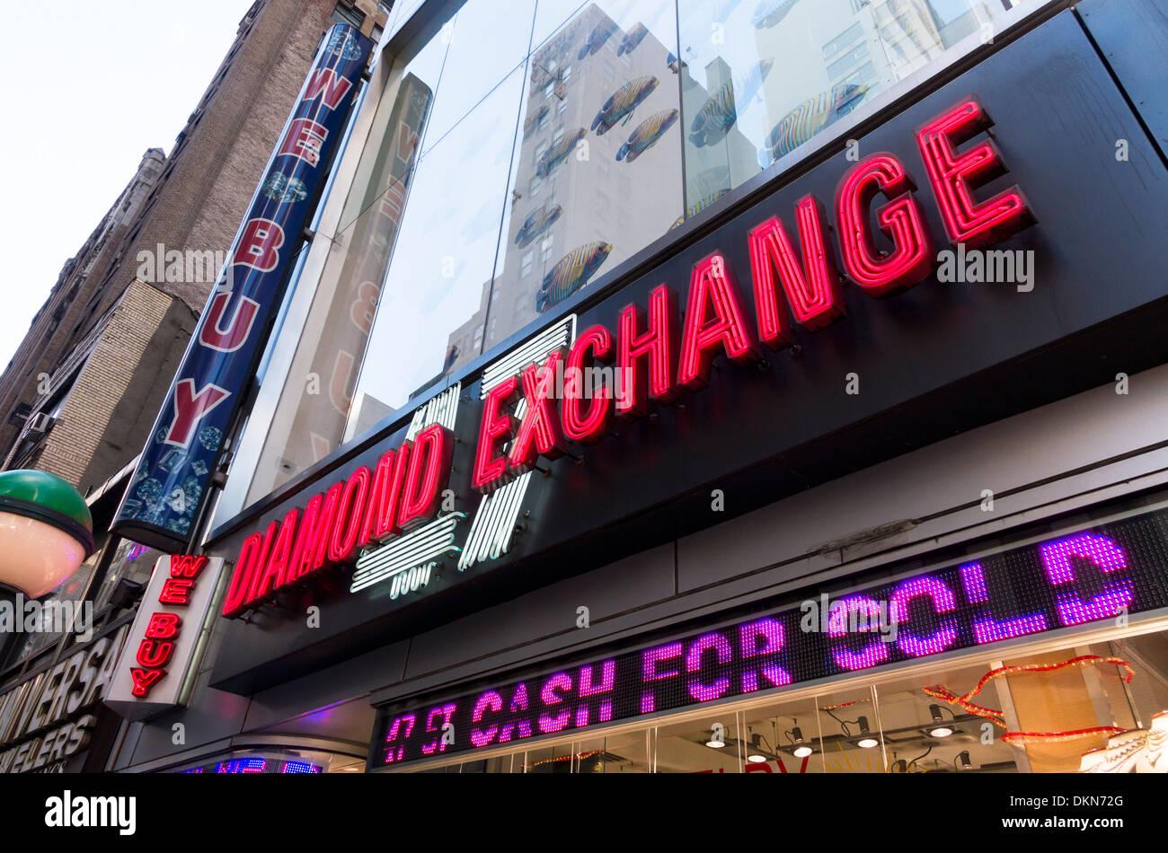 Diamond Exchange in New York City Stock Photo