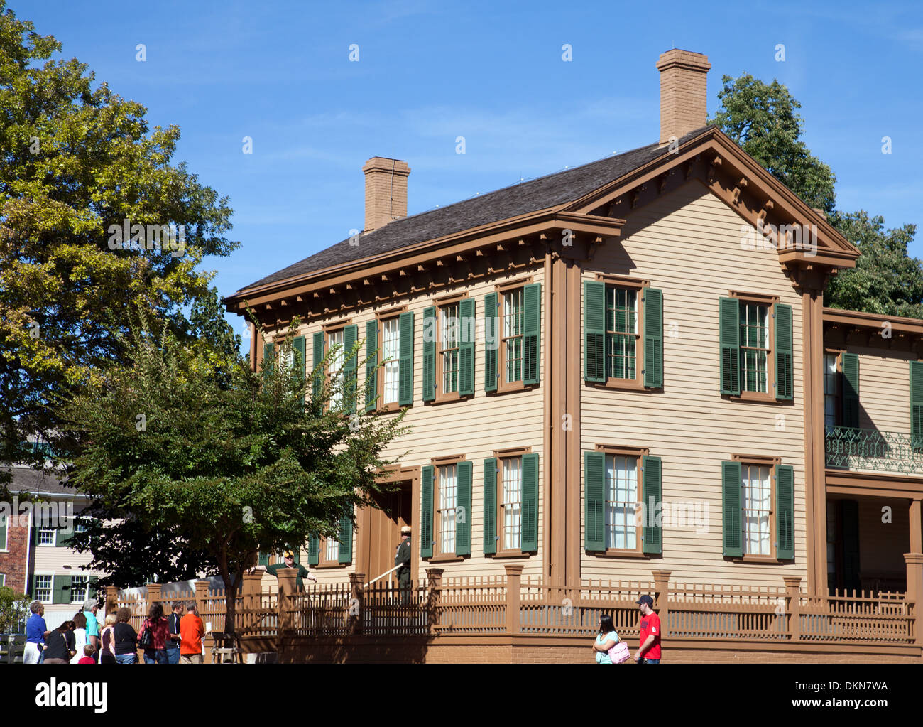 Springfield, IL: Lincoln's home, the centerpiece of the Lincoln National Historic Site. - Stock Image
