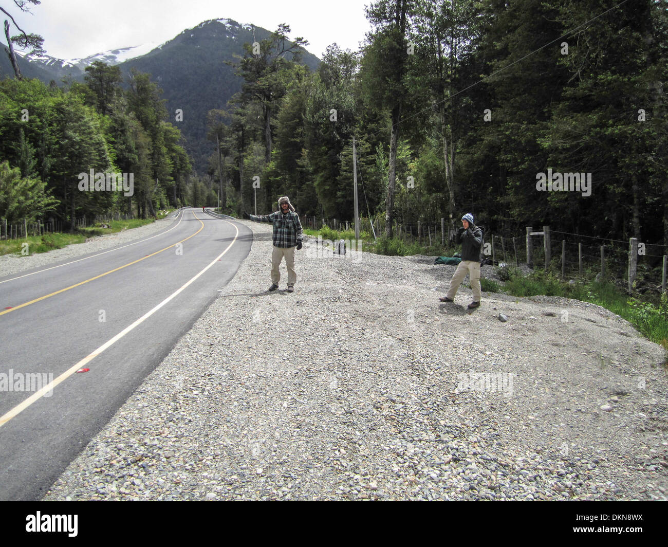 The Carretera Austral (CH-7), formerly known as Carretera General Augusto Pinochet - Stock Image