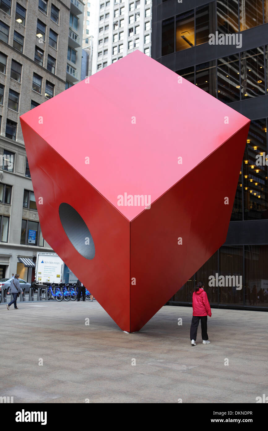 Installation art in New York City, USA - Stock Image