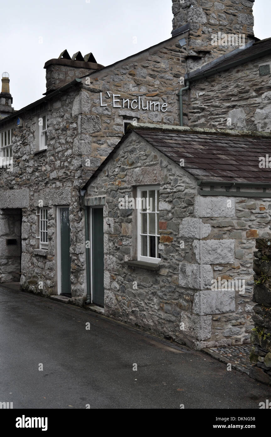 Two Michelin starred L'enclume restaurant, run by Simon Rogan and awarded best in the UK by the Good Food Guide - Stock Image