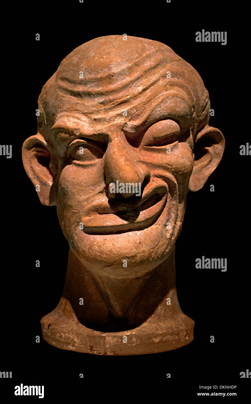 Asklepios Hippocrates deformed sick head 2 century BC Greek Greece - Stock Image