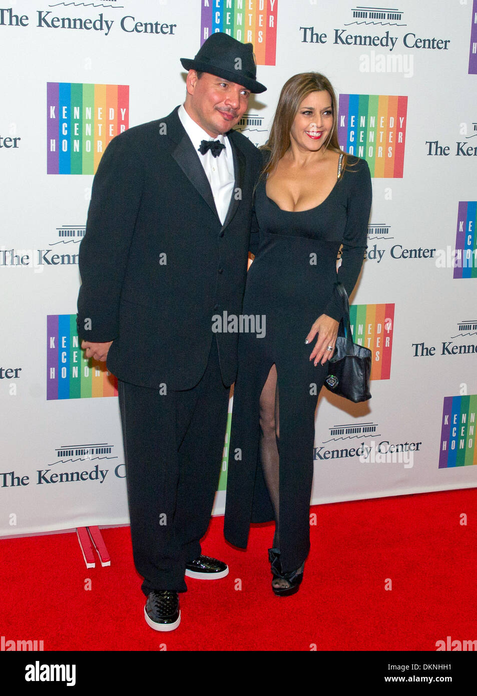 Washington DC, USA. 7th Dec, 2013. Mix Master Mike and Diane Copeland arrive for the formal Artist's Dinner honoring Stock Photo