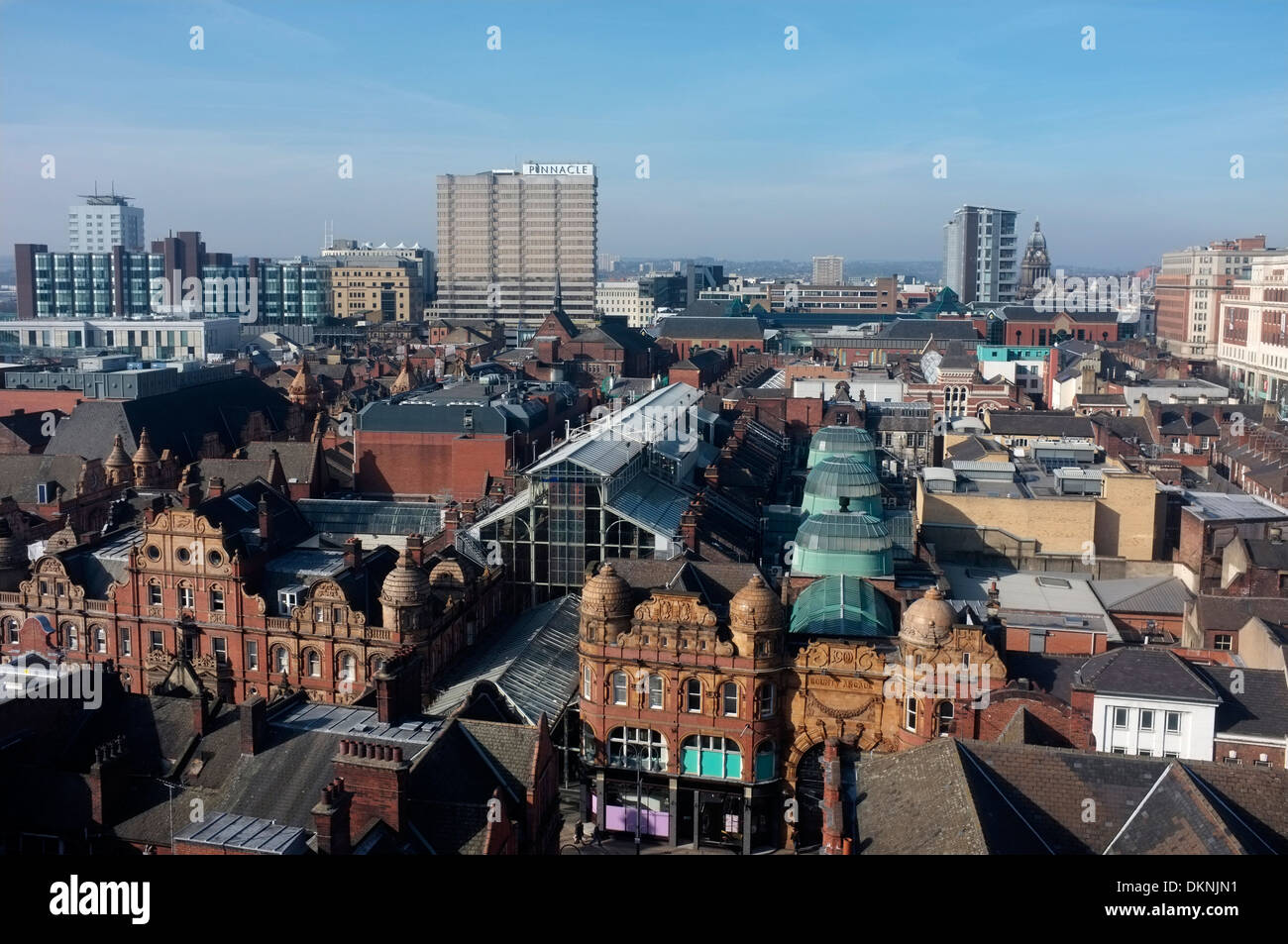 Panoramic view of Leeds City Centre, showing the Victorian Quarter. - Stock Image