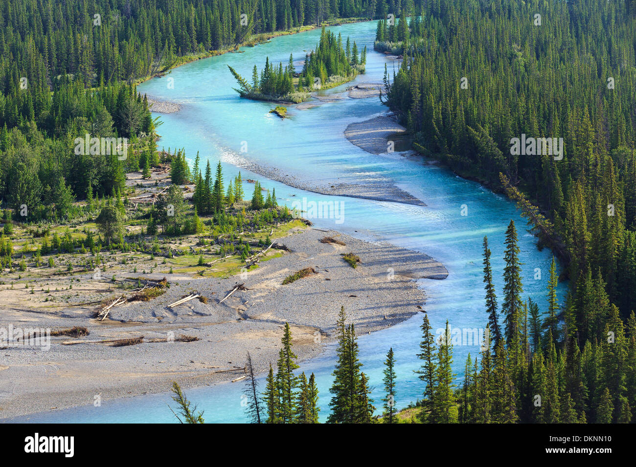 Bow River, Banff National Park, Alberta, Canada - Stock Image