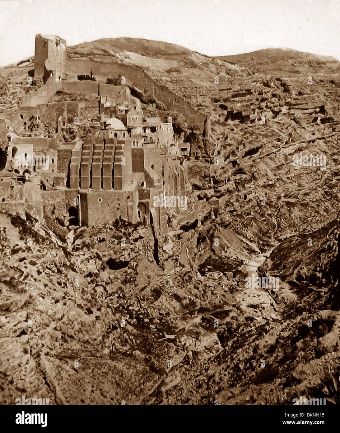 Israel Convent of Mar Saba pre-1900 - Stock Image