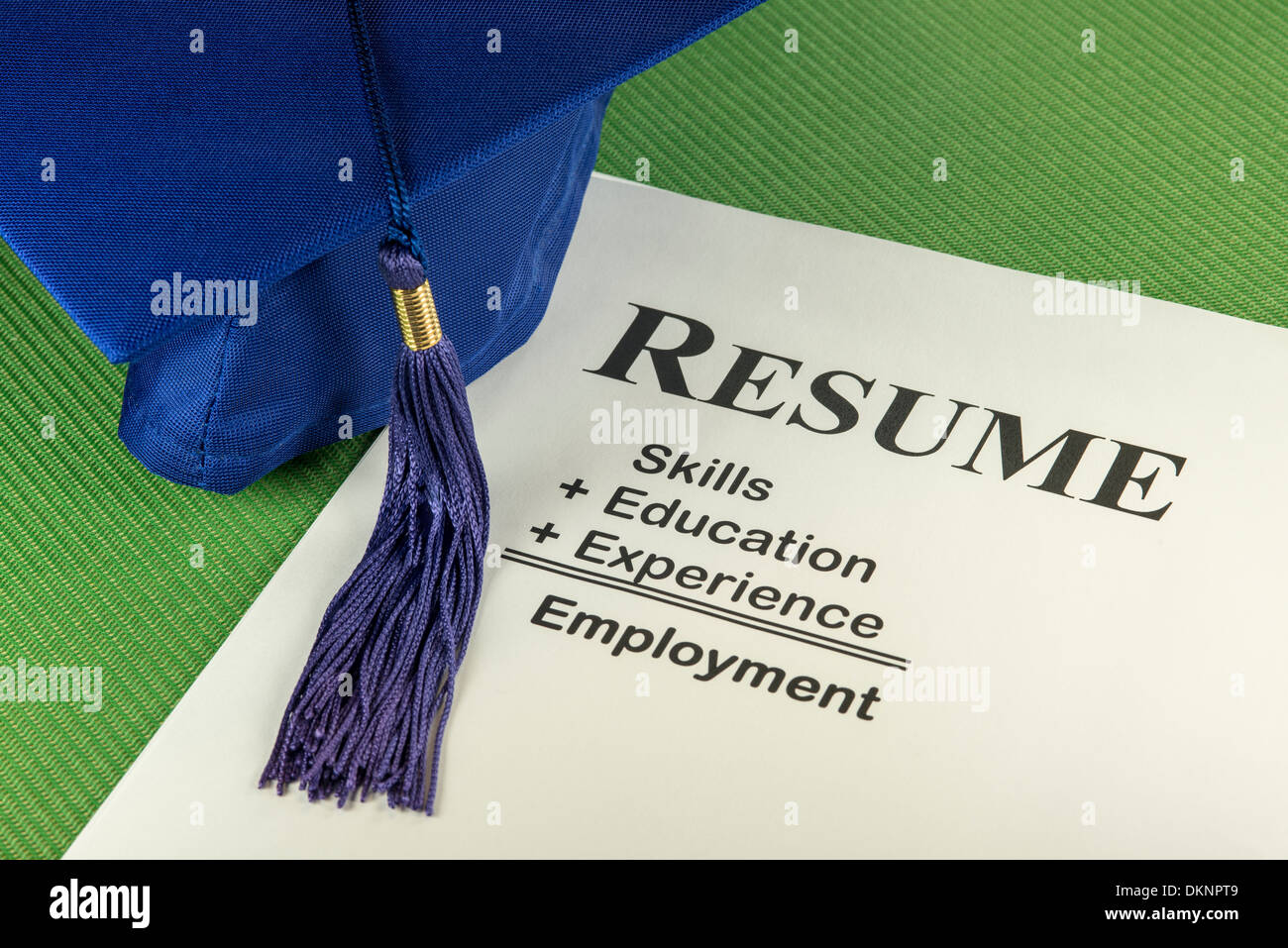 Successful Candidate Resume: Skills + Education + Experience = Employment - Stock Image