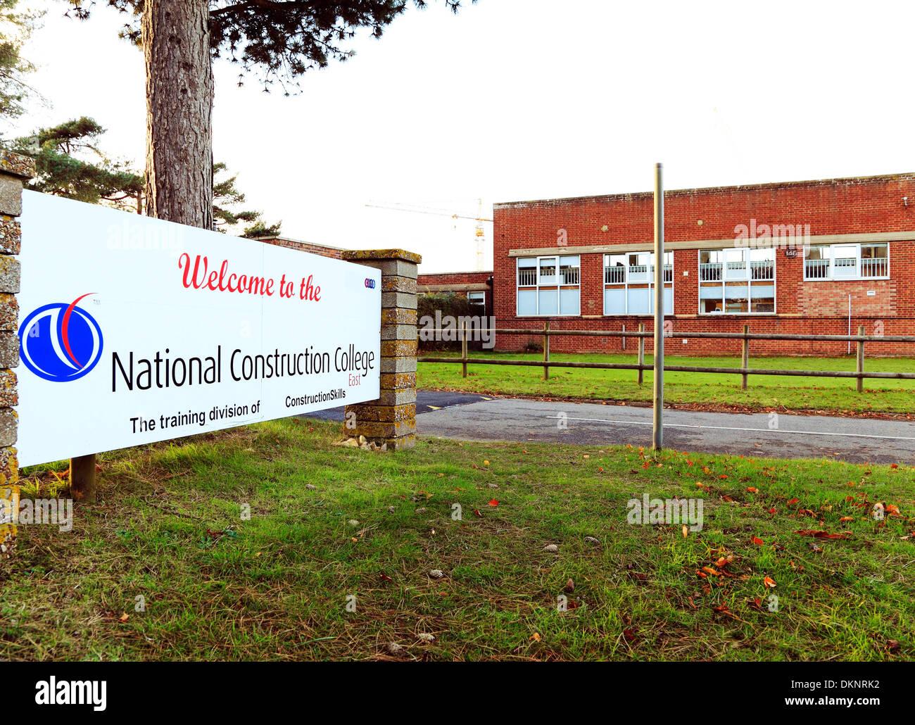 National Construction College, Bircham Newton, Norfolk, England UK - Stock Image