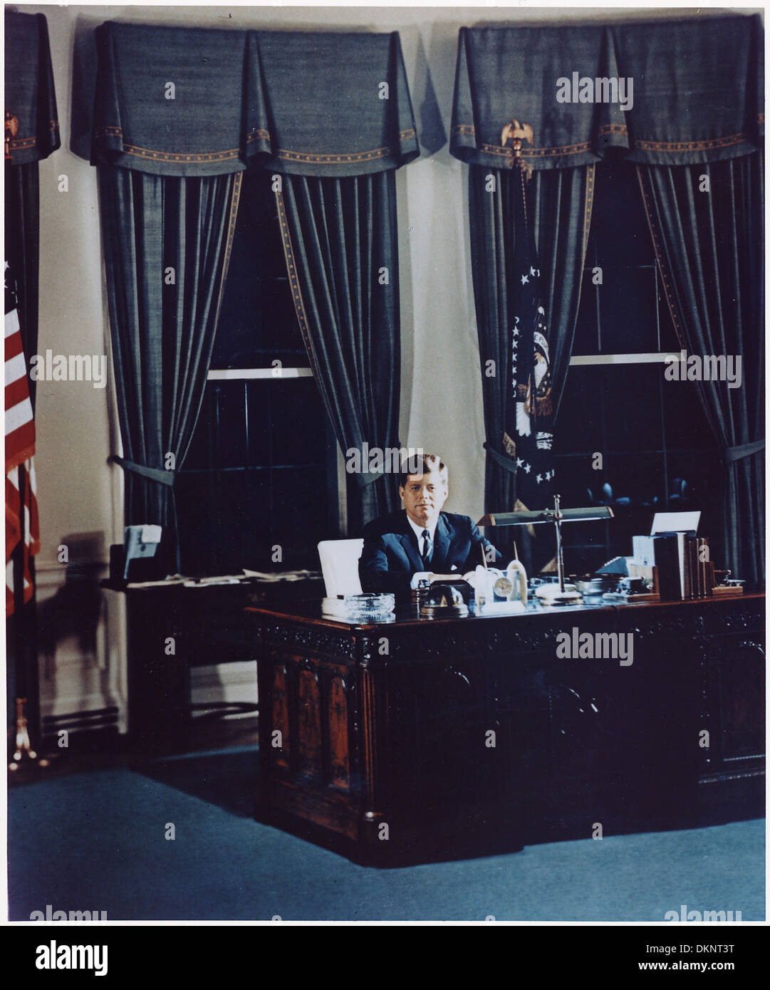 white house oval office desk. Portrait Of President Kennedy At His Desk. White House, Oval Office 194203 House Desk L