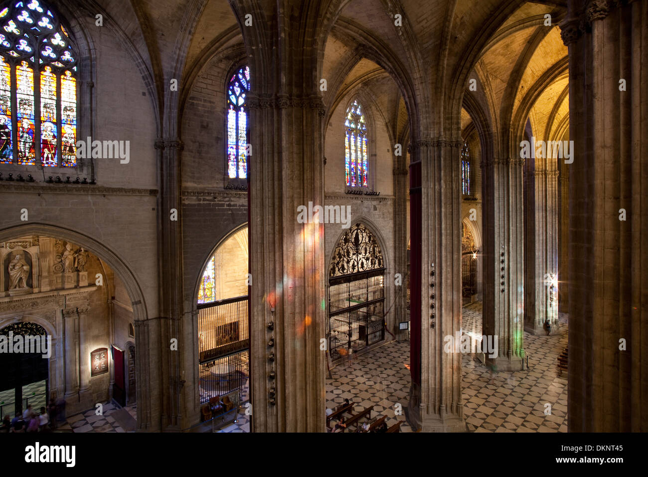 Interior of the Cathedral of Seville. Seville, Andalusia, Spain Stock Photo