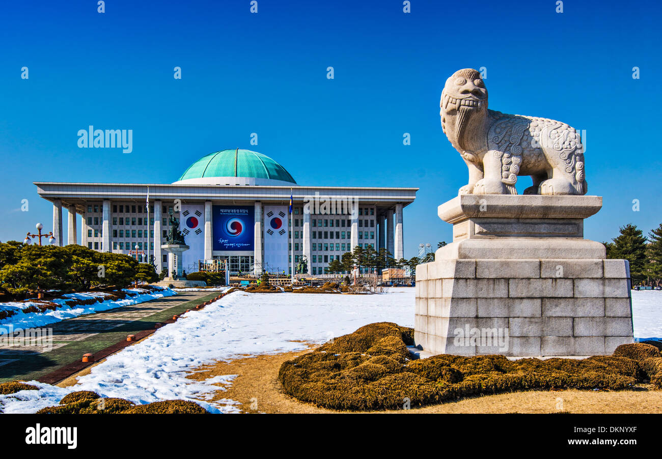 National Assembly Building of South Korea in Seoul, South Korea. - Stock Image