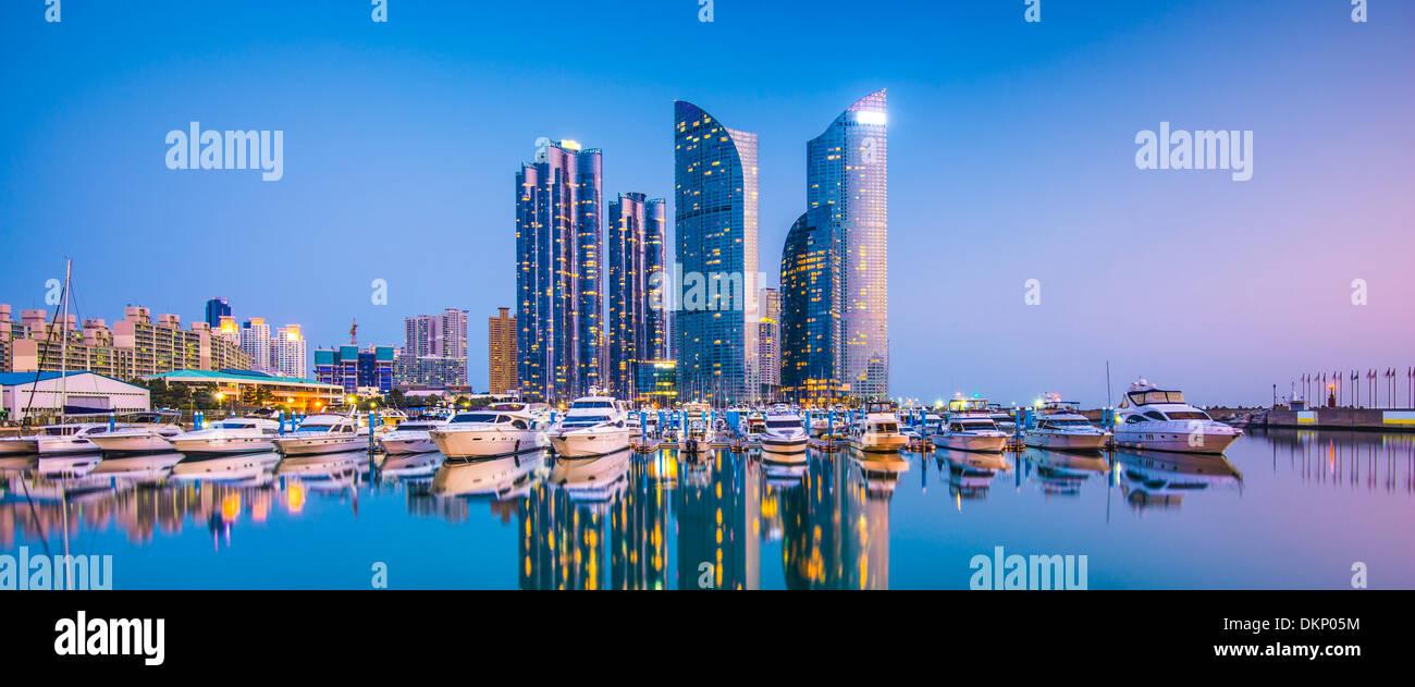 Busan, South Korea cityscape in the Haeundae District. - Stock Image