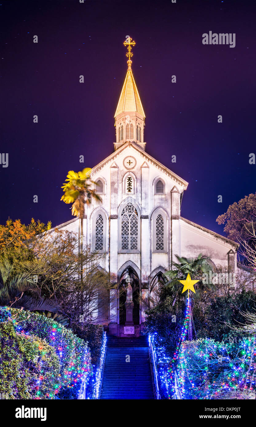 Oura Roman Catholic Church in Nagasaki, Japan. - Stock Image