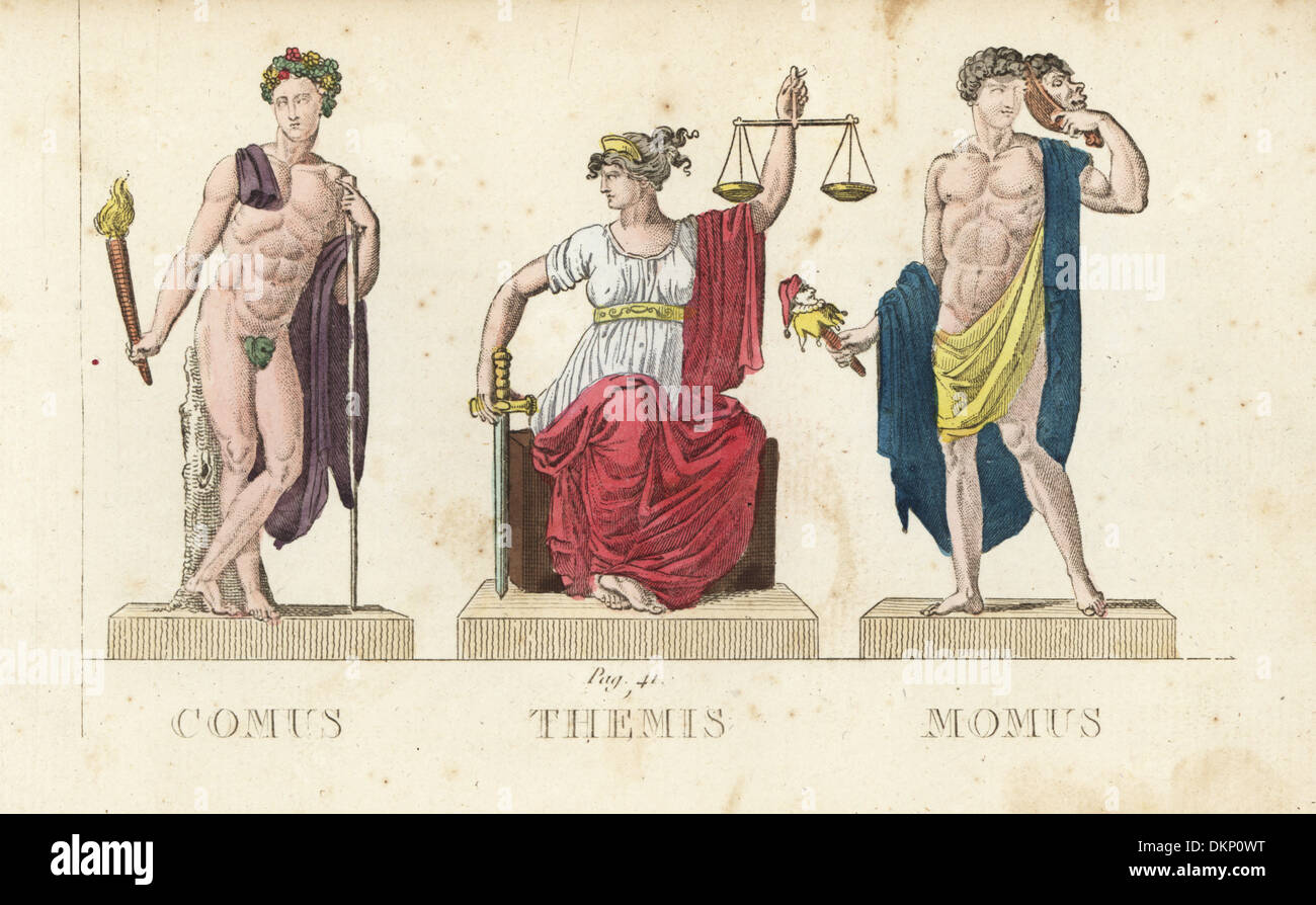 Comus Themis And Momus Greek Gods Of Festivity Divine Law And