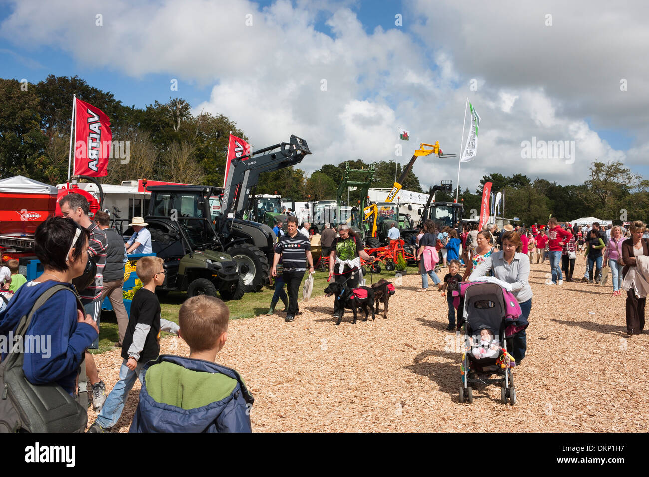Crowds of people at agricultural showground - Stock Image