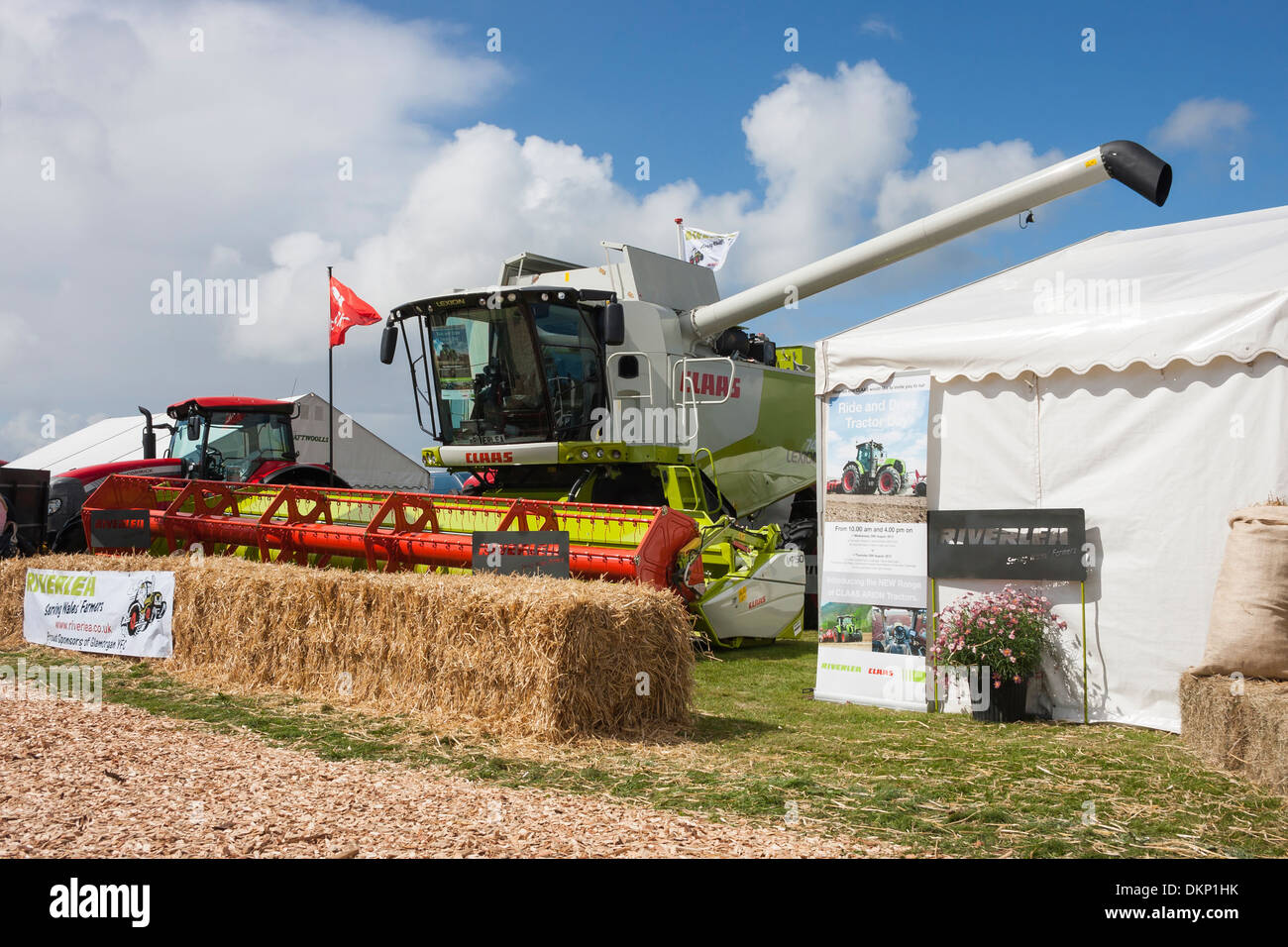 Combine harvester on display at agricultural showground - Stock Image