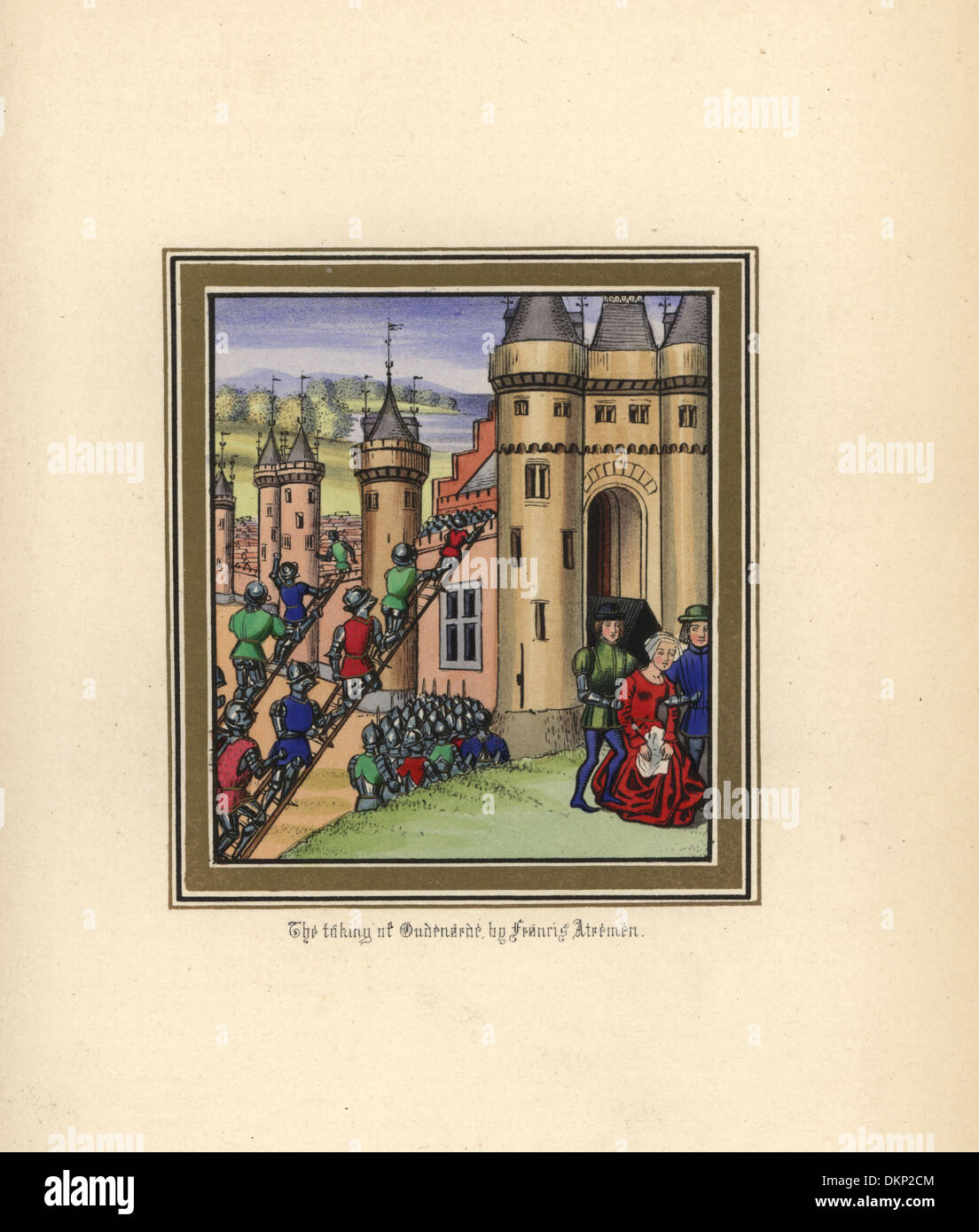 The taking of Oudenaarde in 1382 by Francis Atremen. - Stock Image