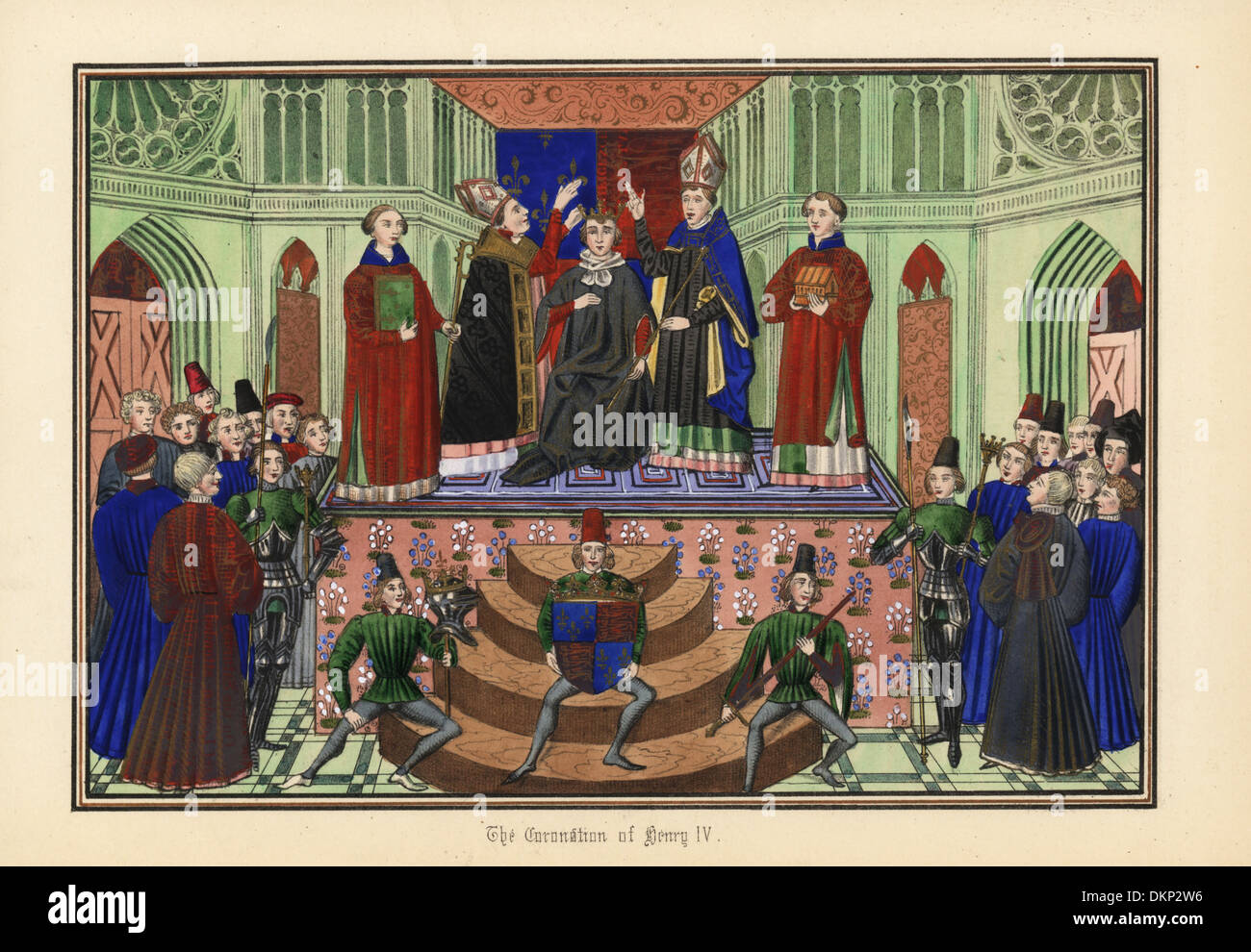 The coronation of King Henry IV of England, 1399. - Stock Image