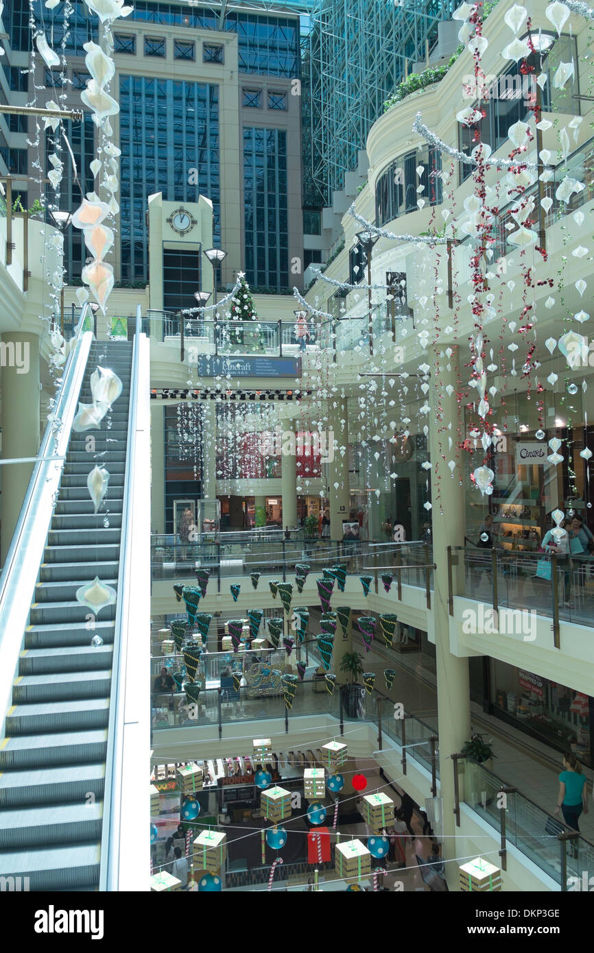 Christmas decorations in the Australia on Collins shopping centre ...