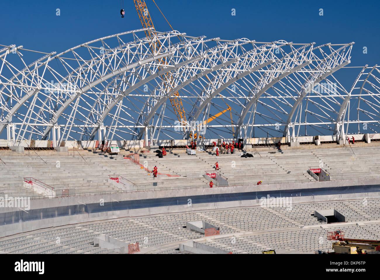 Brazil, Porto Alegre: Construction phase of the World Cup Stadium Beira Rio of Sports Club Internacional (July 2013) - Stock Image