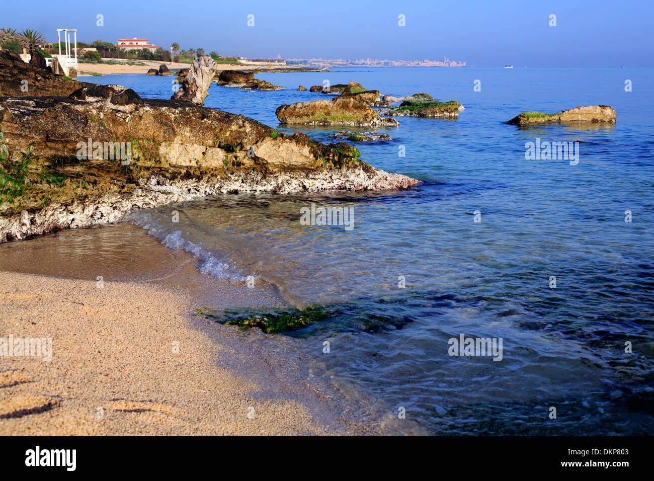 Adriatic coast near Bari, Apulia, Italy - Stock Image