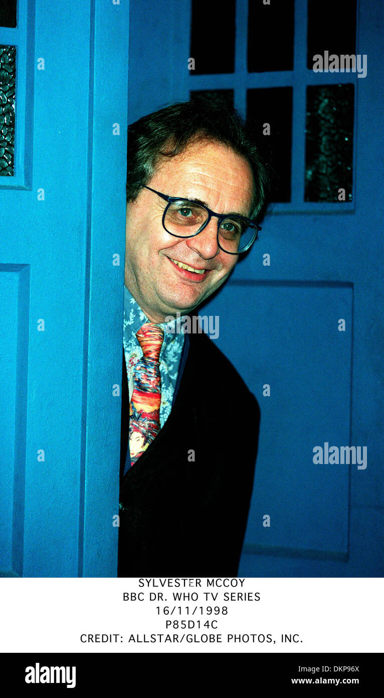 SYLVESTER MCCOY.BBC DR. WHO TV SERIES.16/11/1998.P85D14C. - Stock Image