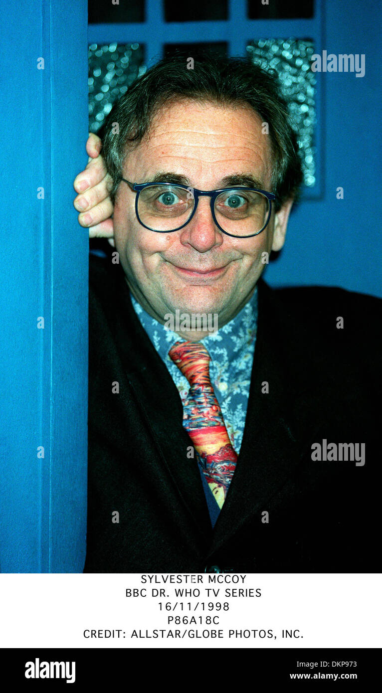 SYLVESTER MCCOY.BBC DR. WHO TV SERIES.16/11/1998.P86A18C. - Stock Image