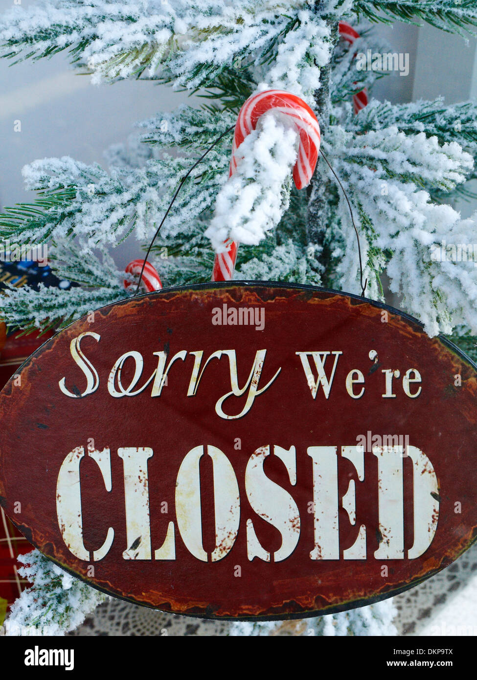 Closed For Christmas.Closed For Christmas Sign Stock Photos Closed For