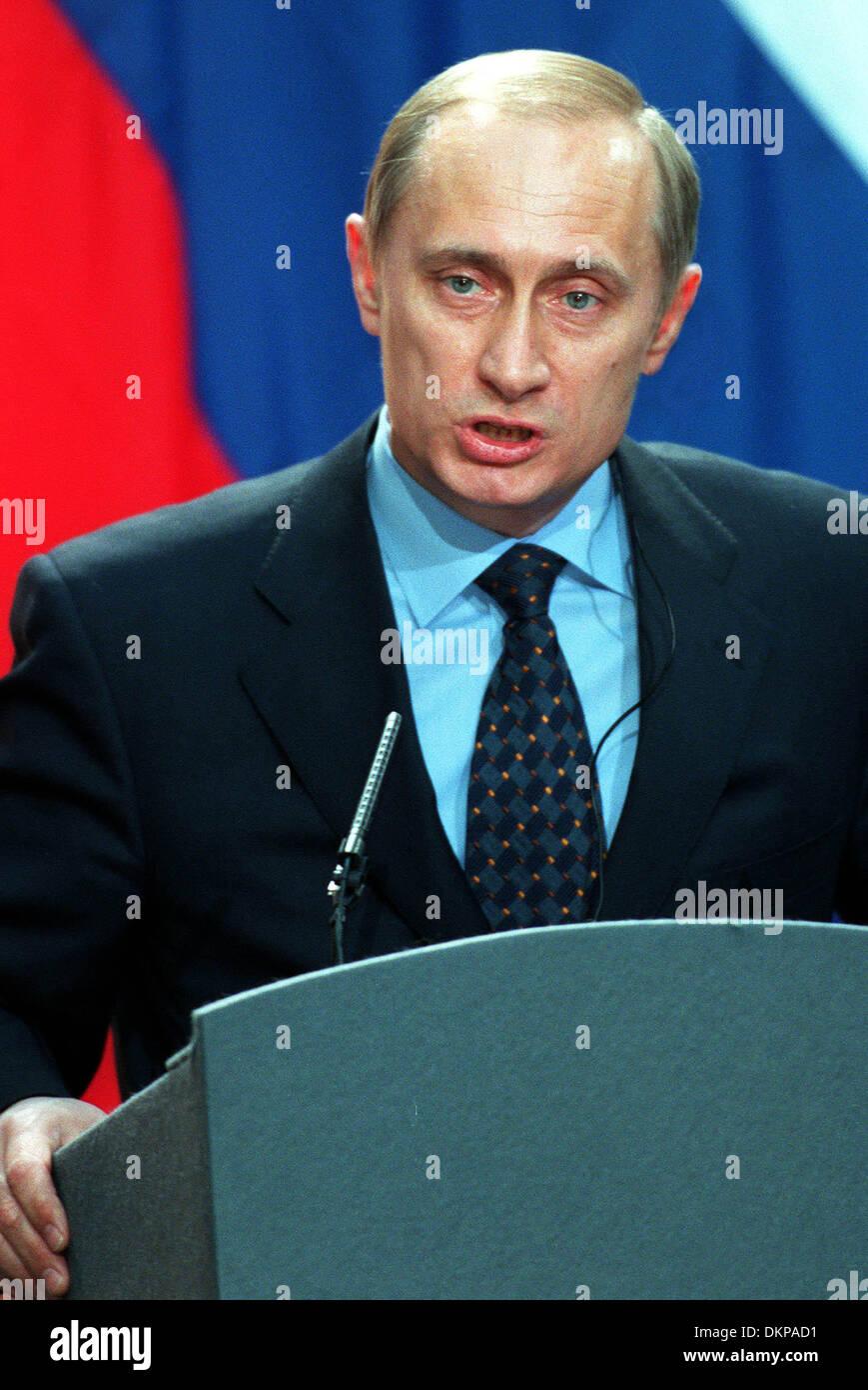 VLADIMIR PUTIN.PRESIDENT OF RUSSIA.17/04/2000.U22B13 - Stock Image