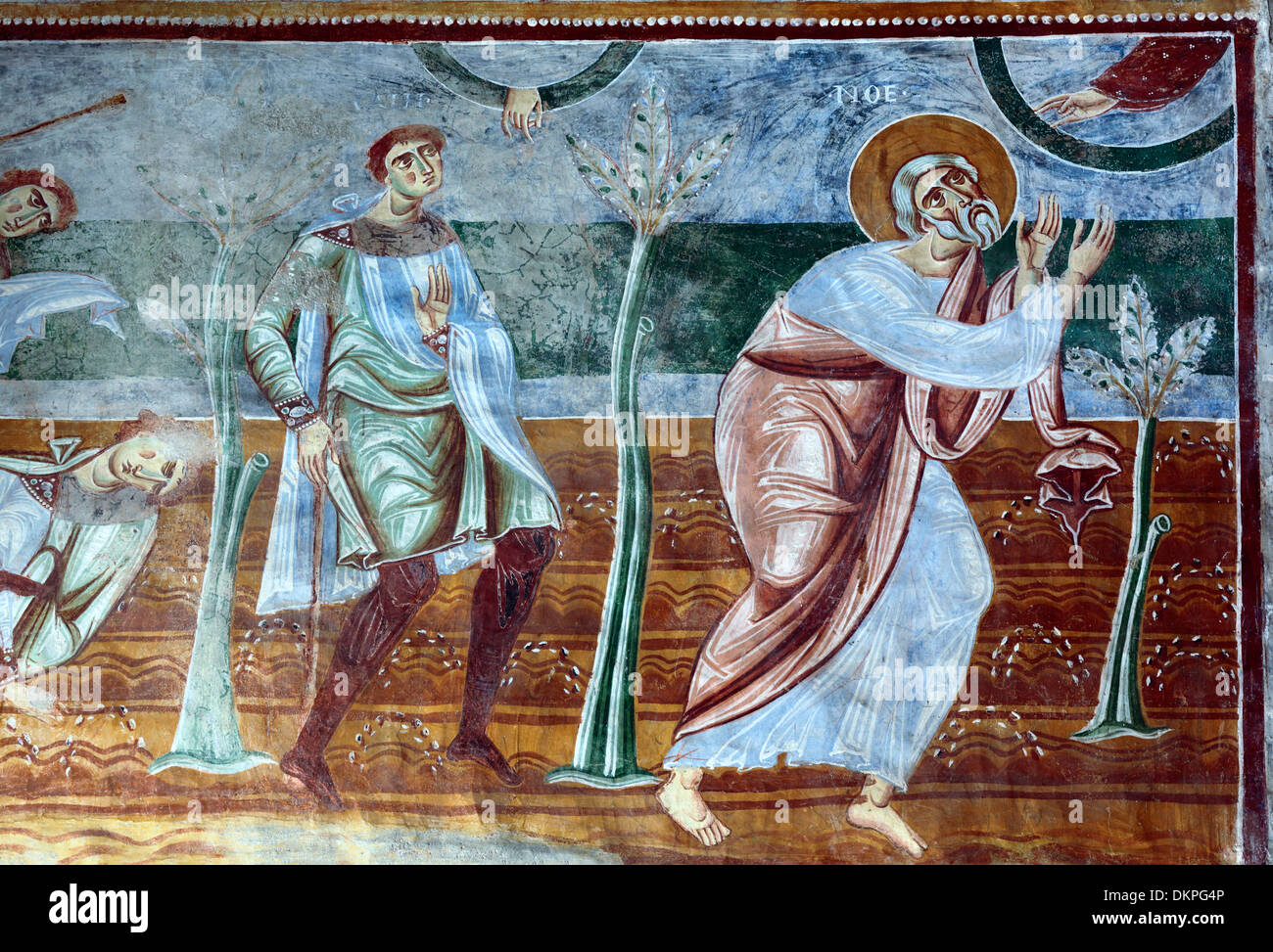 Mural painting, abbey church, Sant Angelo in Formis, Campania, Italy Stock Photo