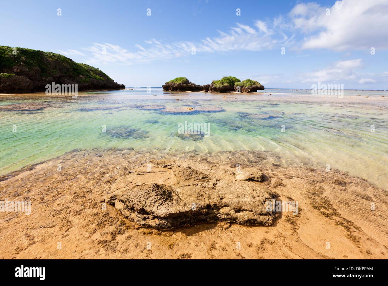 Hoshisuna-no-hama Beach, Iriomote, Okinawa Prefecture, Japan. - Stock Image