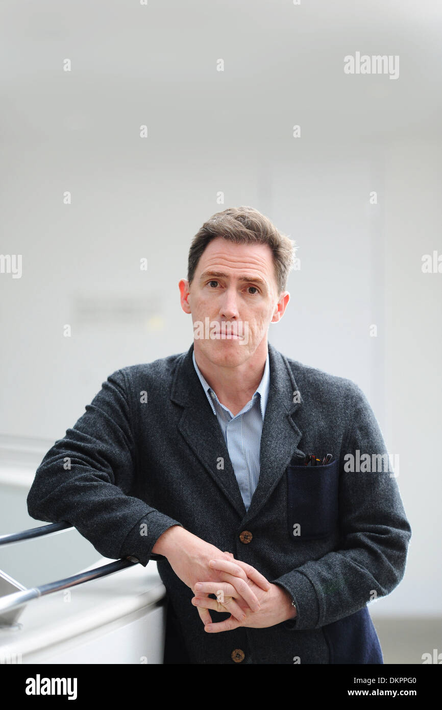 Welsh actor and comedian Rob Brydon. - Stock Image