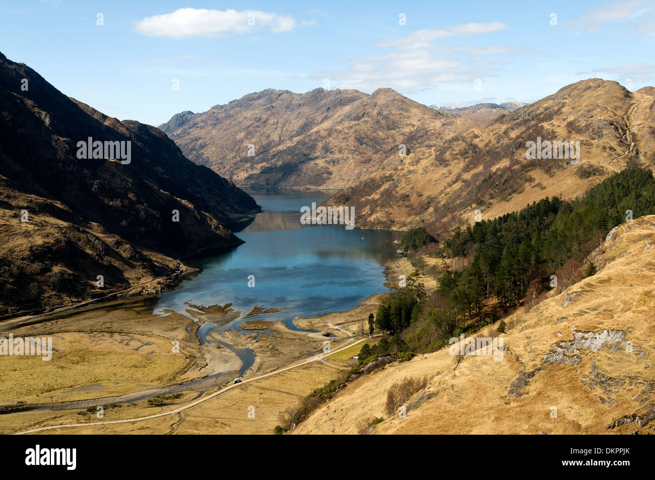 The Druim Fada ridge over Loch Hourn, from Kinloch Hourn, Highland region, Scotland, UK. Stock Photo