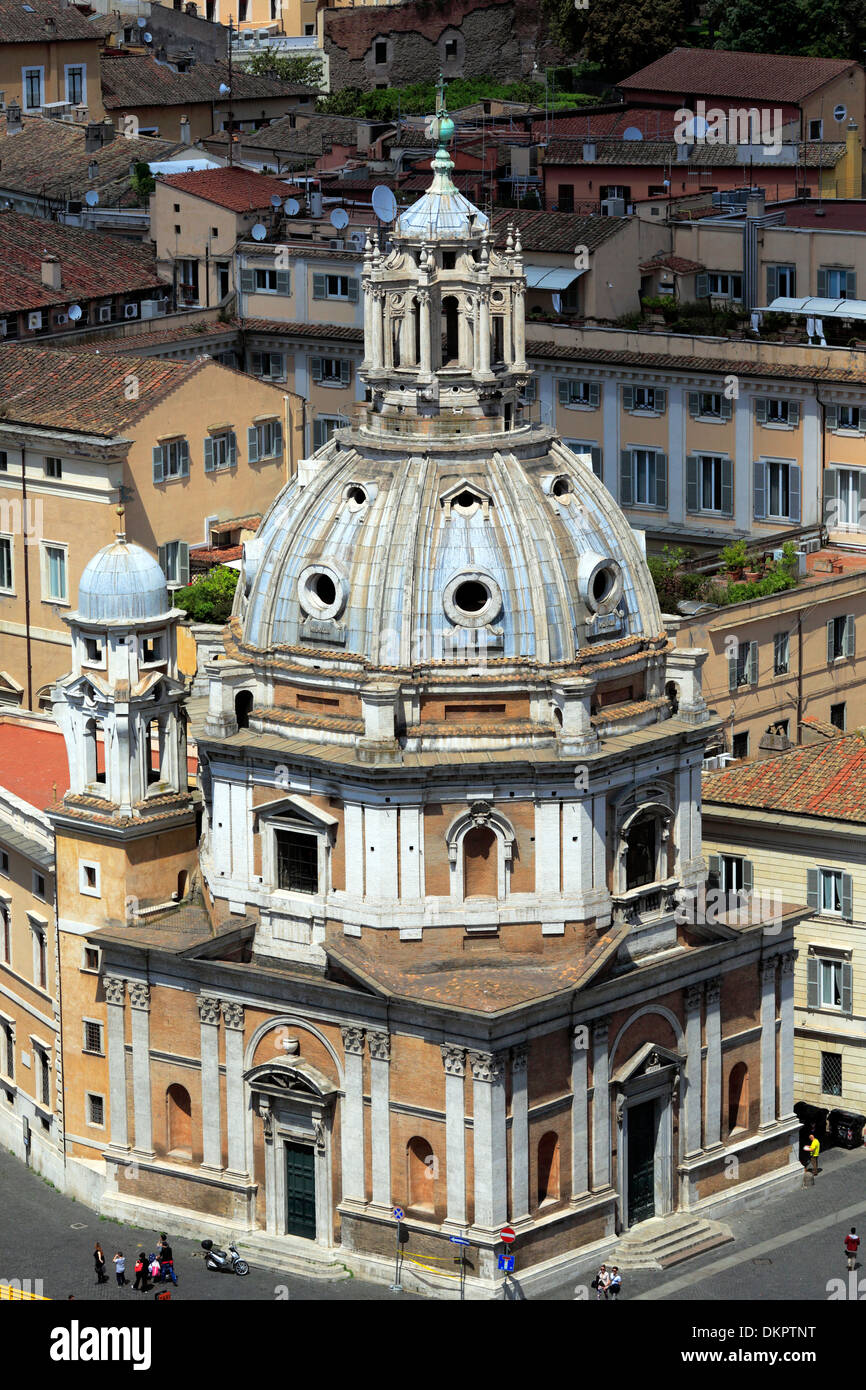 Church of Santa Maria di Loreto, Rome, Italy - Stock Image