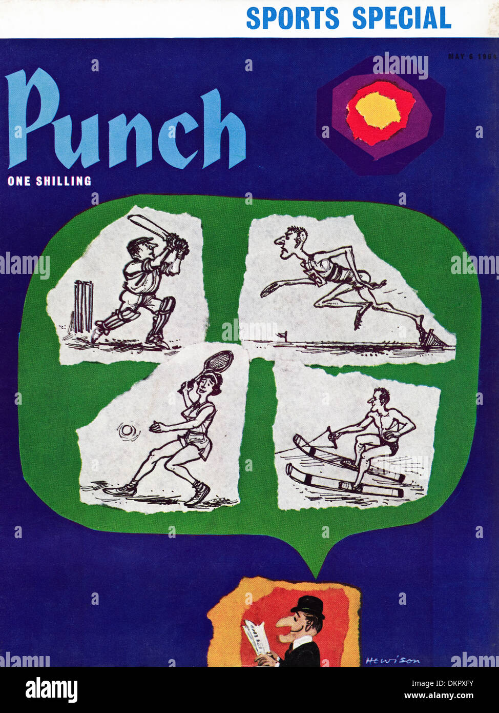 Cover of PUNCH magazine dated 6 May 1964 with illustration by William Hewison - Stock Image