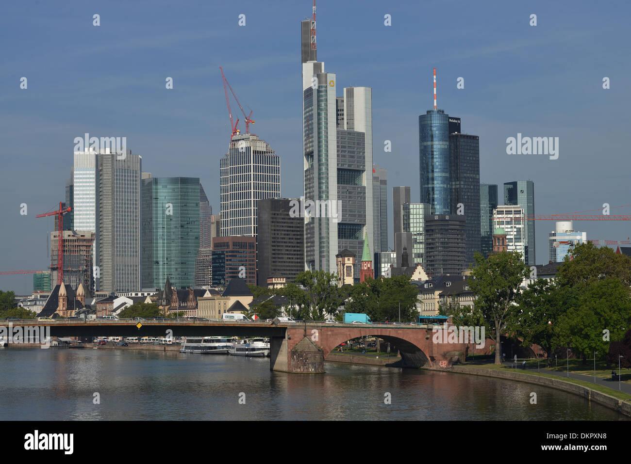 Skyline, Bankenviertel, Frankfurt am Main, Hessen, Deutschland - Stock Image