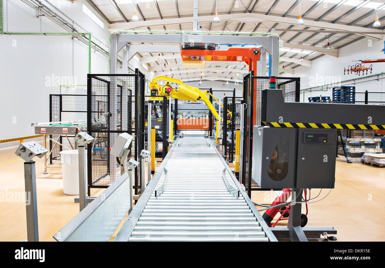 Conveyor belt in factory - Stock Image