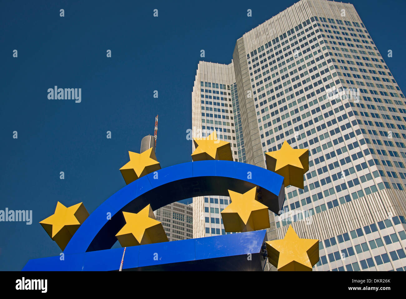 Architecture bank bank quarter bank building Brandt office building block Germany Europe European eurosigns euromarks EZB - Stock Image