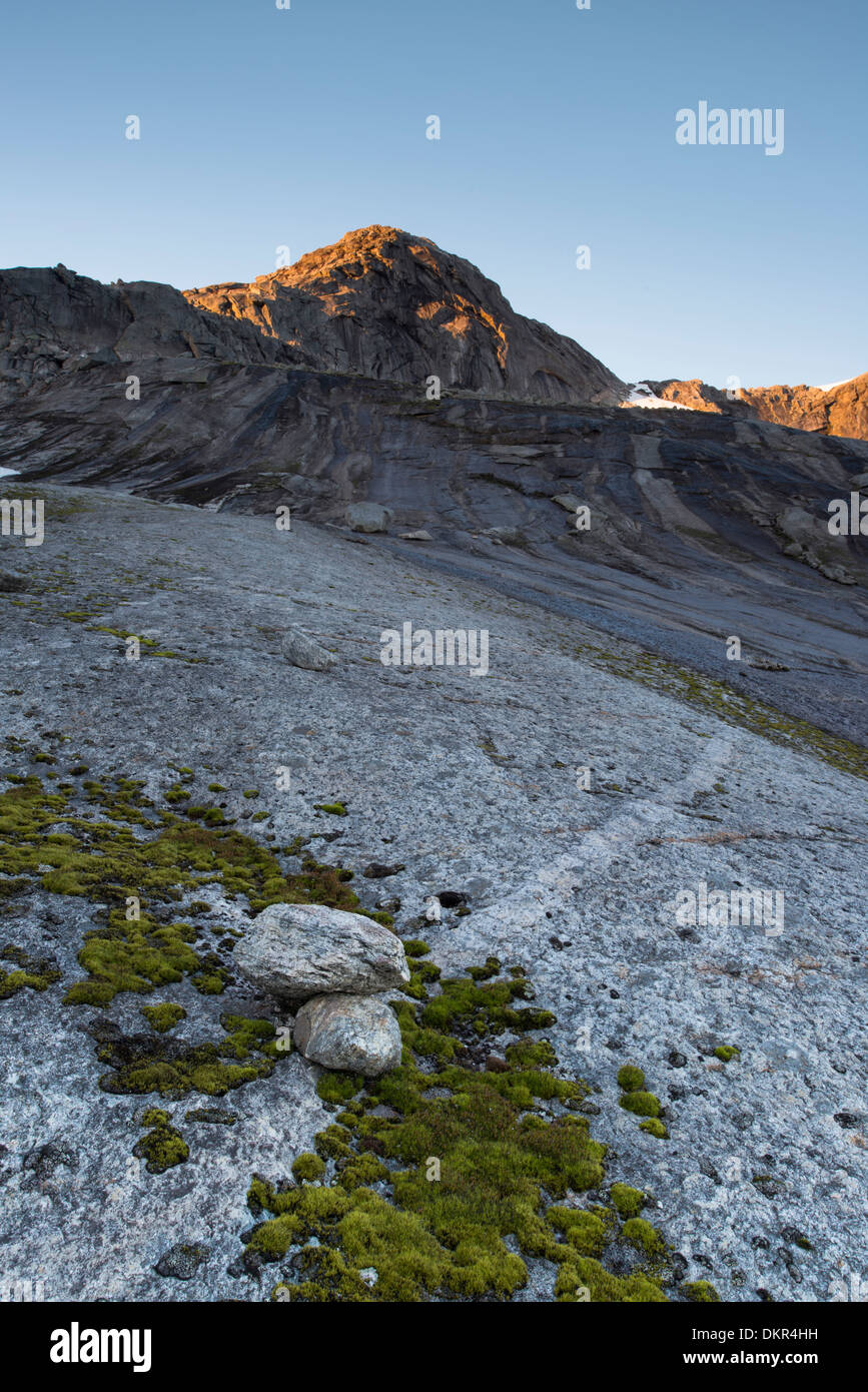 Ofoten Northern Europe Norway water Europe Scandinavia Scandinavian alpine mountain mountain landscape mountain Stock Photo