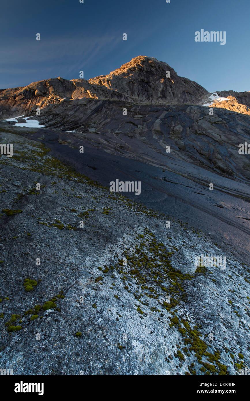 Ofoten Northern Europe Norway water Europe Scandinavia Scandinavian alpine mountain mountain landscape mountain Stock Photo