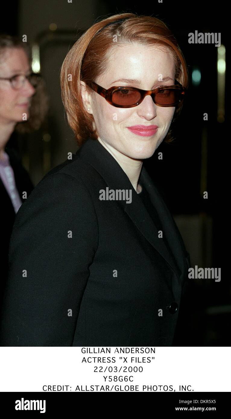Mar. 22, 2000 - GILLIAN ANDERSON.ACTRESS ''X FILES''.22/03/2000.Y58G6C.CREDIT:(Credit Image: © Globe Photos/ZUMAPRESS.com) - Stock Image