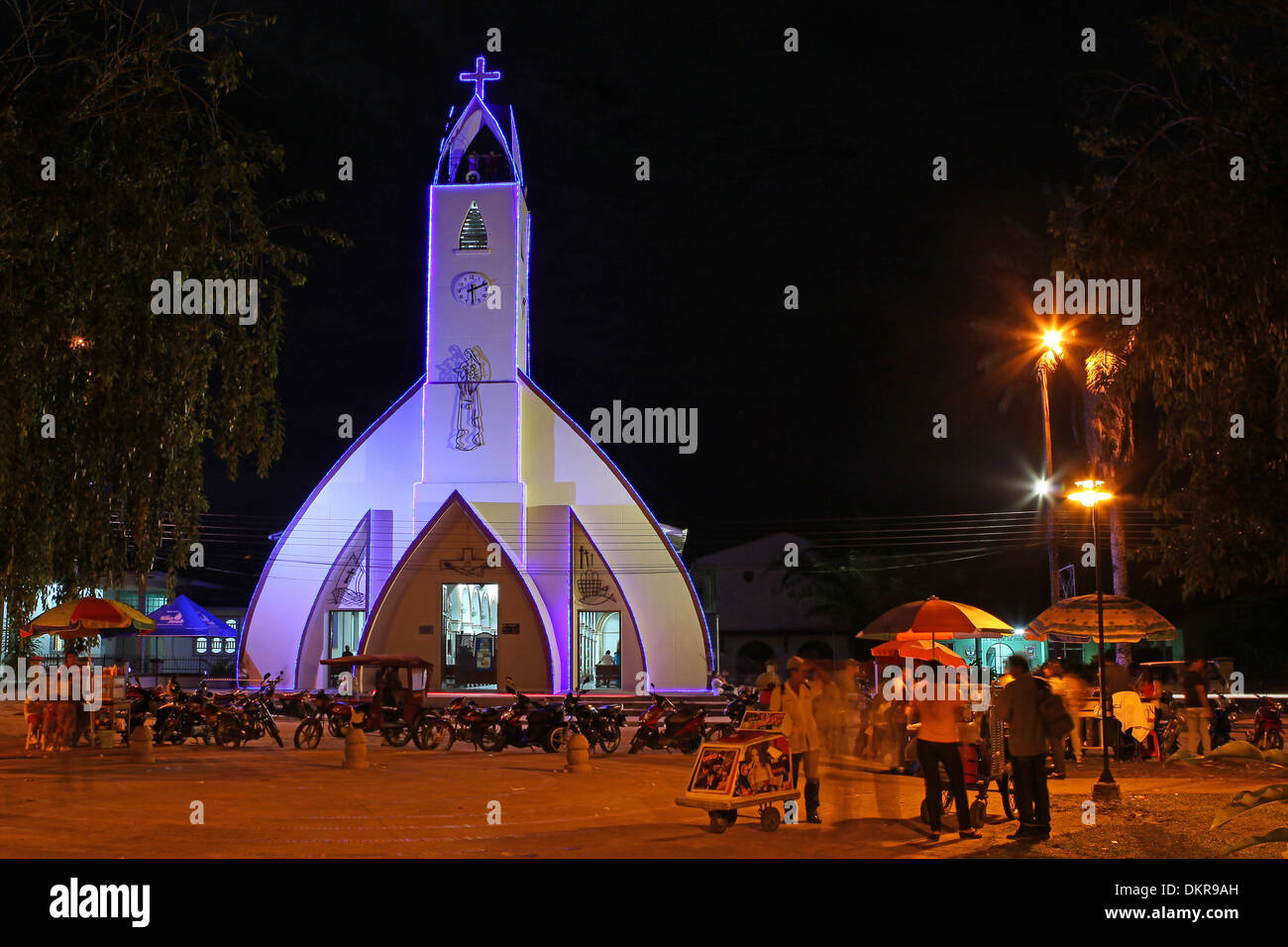 Christmas In Colombia South America.Leticia Amazon Colombia South America Church Plaza