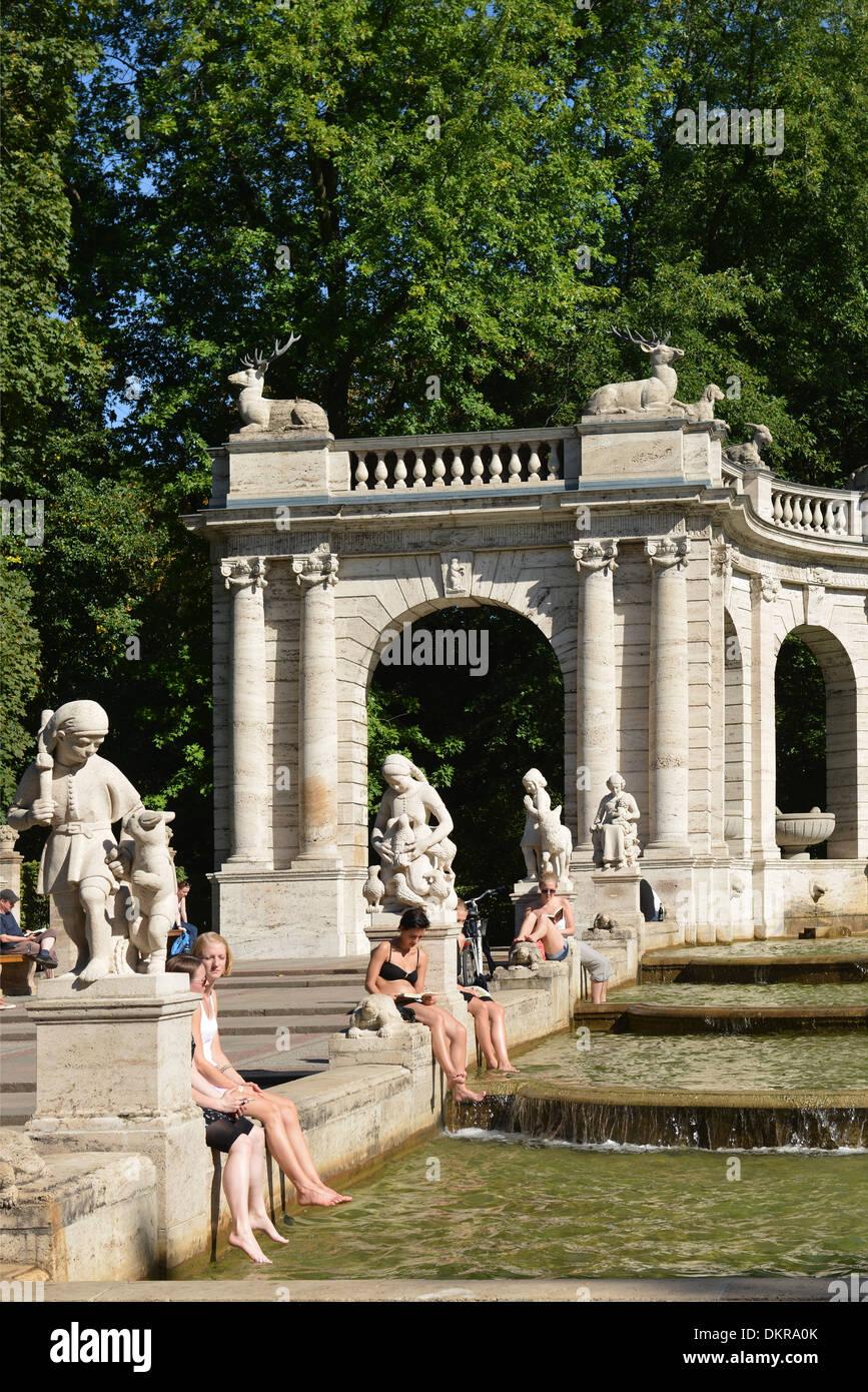 Maerchenbrunnen, Volkspark, Friedrichshain, Berlin, Deutschland / Märchenbrunnen - Stock Image