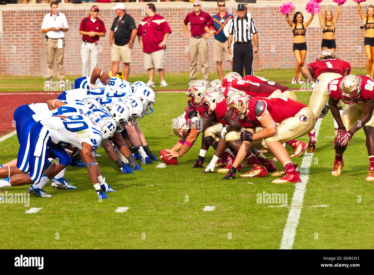 American Football Game in Florida - Stock Image