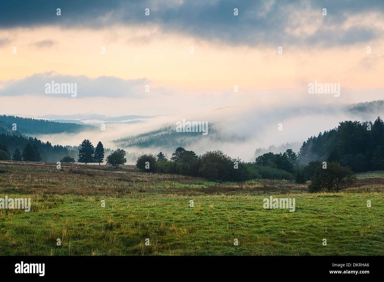 Neustadt am Rennsteig, Thuringian Forest, Ilm Kreis, Thuringia, Germany - Stock Image