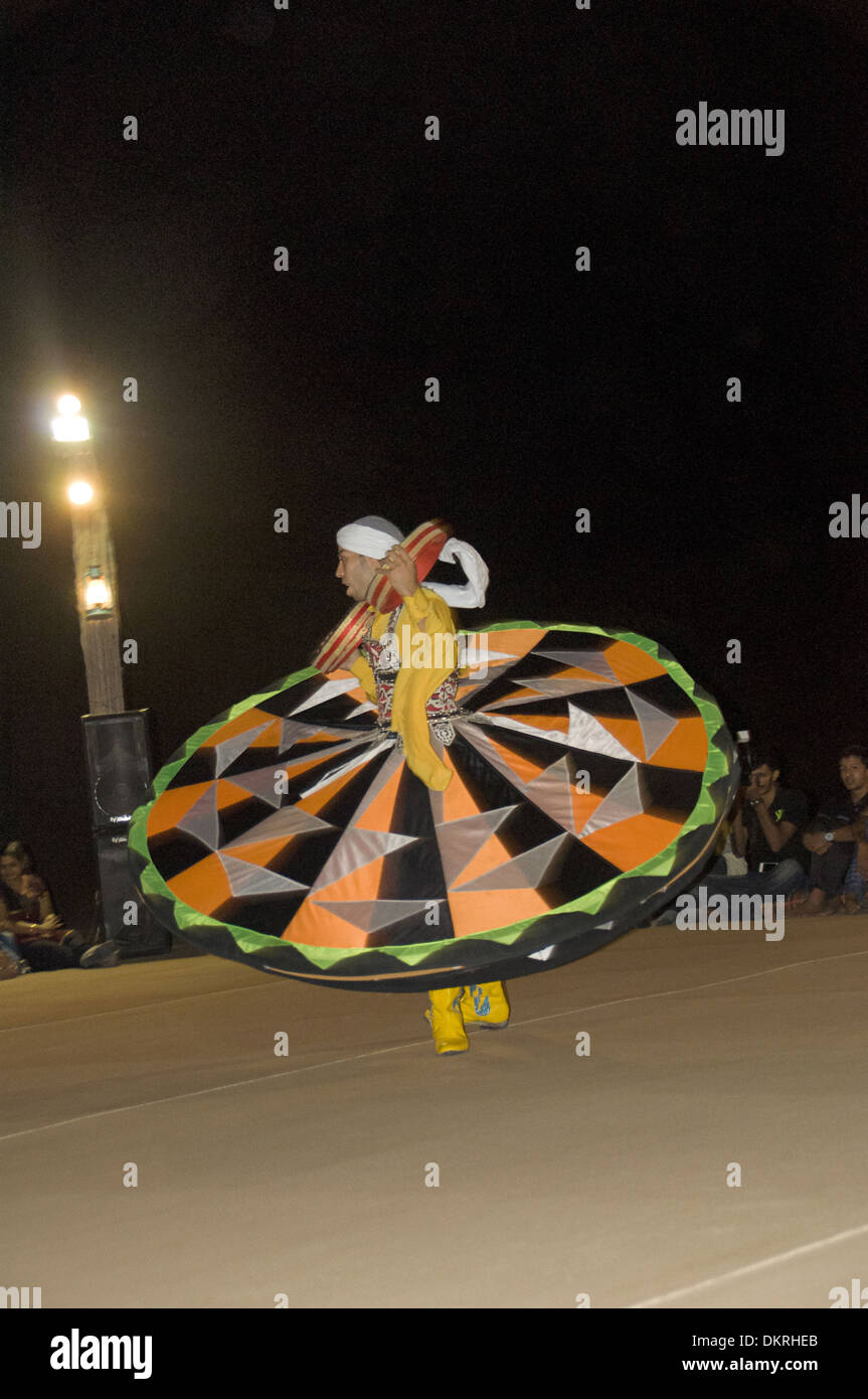 Sufi dancer whirling, Dubai UAE - Stock Image